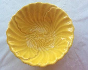Vintage Marigold Yellow Maddux of California Cabbage Bowl