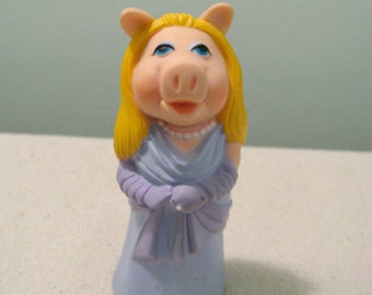 Vintage Miss Piggy Stick Puppet Toy
