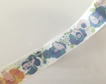 Woodland Deer & Owl - Washi tape - 15 mm Wide - 10 meters WT791