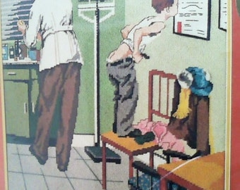 Dimensions Needlepoint Norman Rockwell At The Doctor's Office