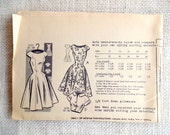 Vintage Pattern Mail Order 3250 Bust 34 cap sleeve Rockabilly gored bodice skirt full dress fit flare bolero cropped jacket unprinted Uncut