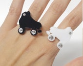 Roller Derby Skates Acrylic Adjustable Statement Ring- Choose Your Color!