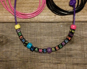 Cheap No-Frills Name Necklace