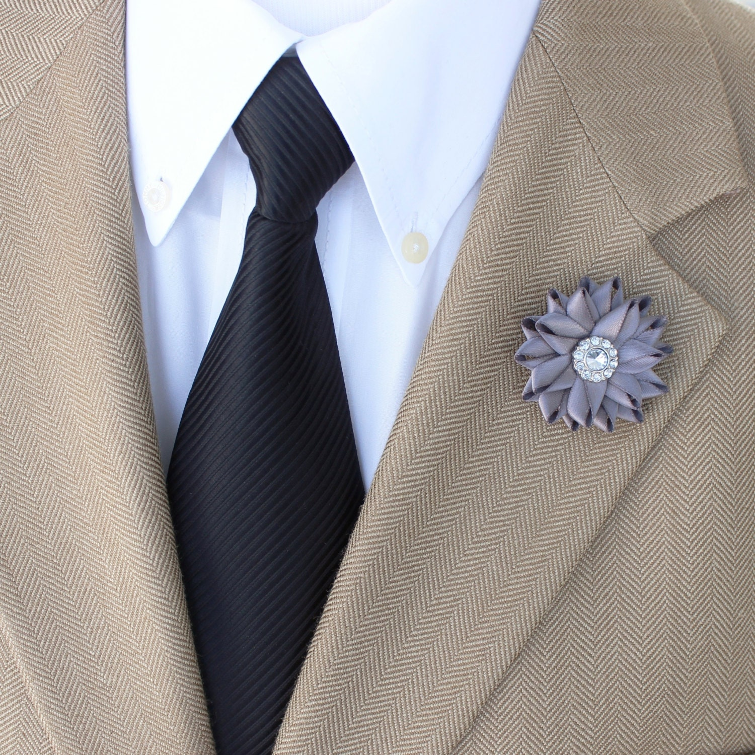 Mens Gifts Lapel Flower Custom Pin Fashion Accessories Gift For Gentleman Flowers Men