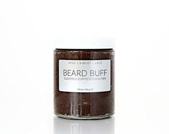 Beard Scrub | Mens Grooming | Gifts for Him | 100% natural and vegan scrub for men