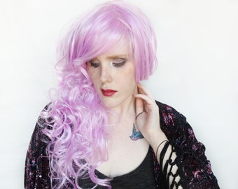 SALE Pastel wig | Long Pastel Purple wig | Curly Scene wig | Pink Purple wig | Fairy Glamour