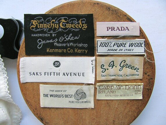 items similar to vintage clothing tags labels saks s f