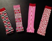 Valentine's Day  Leg Warmers - 4 Styles to Choose From - Pick Your Favorite Pair