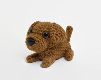 Rhodesian Ridgeback Amigurumi Dog Crochet Puppy Stuffed Animal Plush Doll  / Made to Order