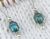 Knitting Stitch Markers, Hematite Buddha, Semi-Precious Stones, Large Size, Snag Free, Knitting Tool, Knitting Accessory, Gift for Knitters