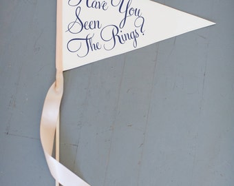 "Ring Bearer Funny Wedding Sign ""Have You Seen The Rings?"" 