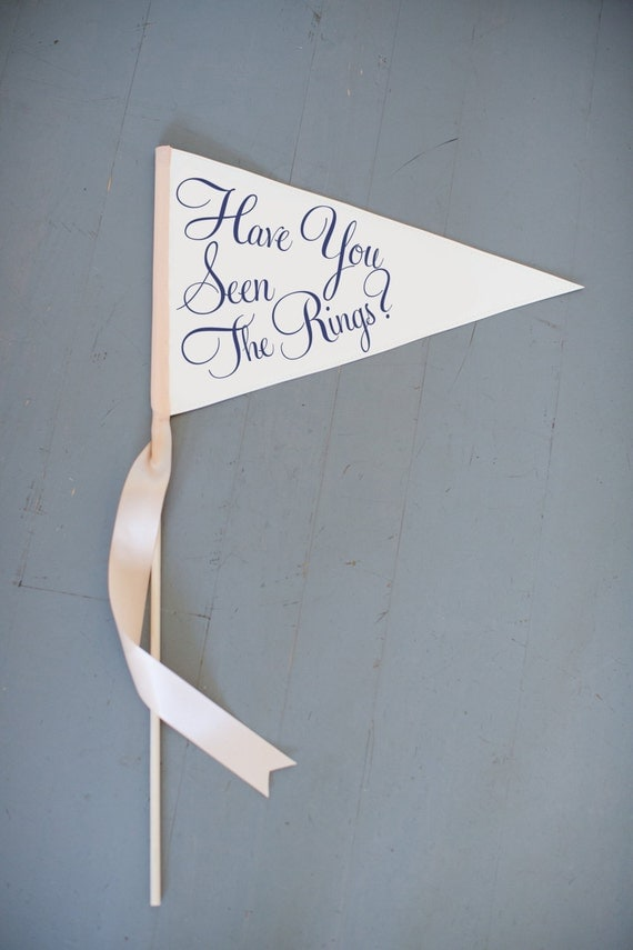 """Ring Bearer Funny Wedding Sign """"Have You Seen The Rings?"""" 