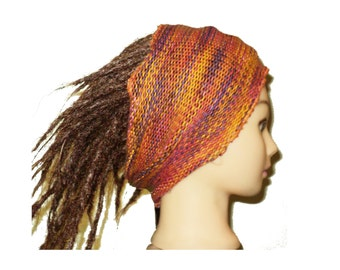 Bohemian unisex adult knitted headband tube woodland bohemian for dreadlocks colorful