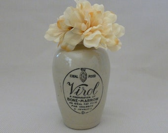 Large Antique Virol Stoneware Jar