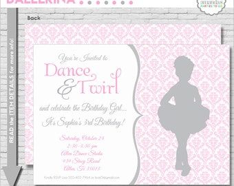 Ballet Birthday Invitation | Ballerina Party Invitation | Ballet Birthday Invitation | Dance Party Invitation | Amanda's Parties To Go