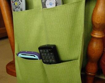 Remote Control Caddy 4 pocket Green Mini Stripe