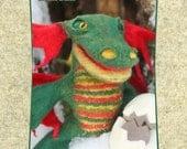 Wet Felting Kit / The Little Dragon / Hand Puppet