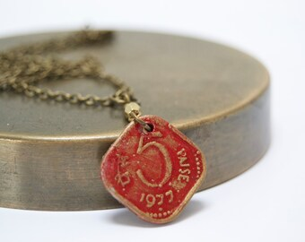 Coin Necklace, India Coin, Rupee, World Coin Jewelry, Coin Jewelry