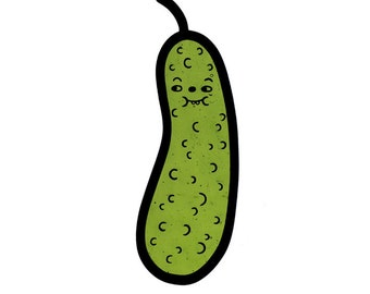 SALE: Goofy Gherkin (pickle) | Contemporary Stained Glass Ornament (IN STOCK)