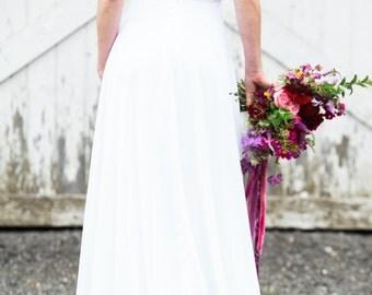 Velvet Wedding Dress, 1930, 1920, Art Deco, Vintage Inspired, RHAPSODY, Winter Wedding, Colors
