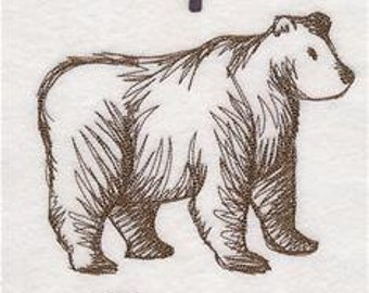 Three Piece Papa, Mama, and Baby Bear Embroidered Hand Towel Set| Bath Hand Towel | Bear Embroidered Towel | Embroidered Bath Towel