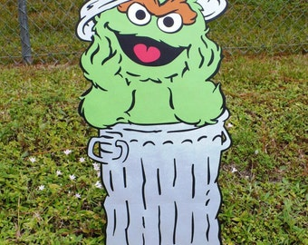 Sesame Street Oscar the Grouch large Decoration Stand Up, standee, Sesame Street Party Phot Prop