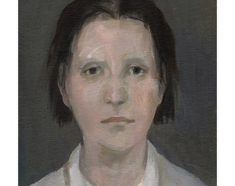 Woman portrait original painting fine art oil figurative people face