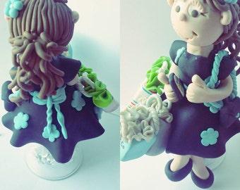 Custom Birthday Cake Topper  Personalized Custom Handmade Baby Shower Birthday Anniversary Keepsake Cake Topper Pregnant Birthday Cake