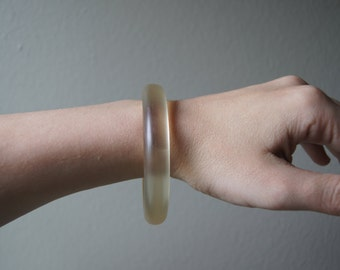 Vintage Bangle Clear Plastic Thin  Bohemian Bangle Bracelet 70's Bracelet Chunky Bracelet Clear Bracelet Thick Bangle Bohemian Gypsy Hippy