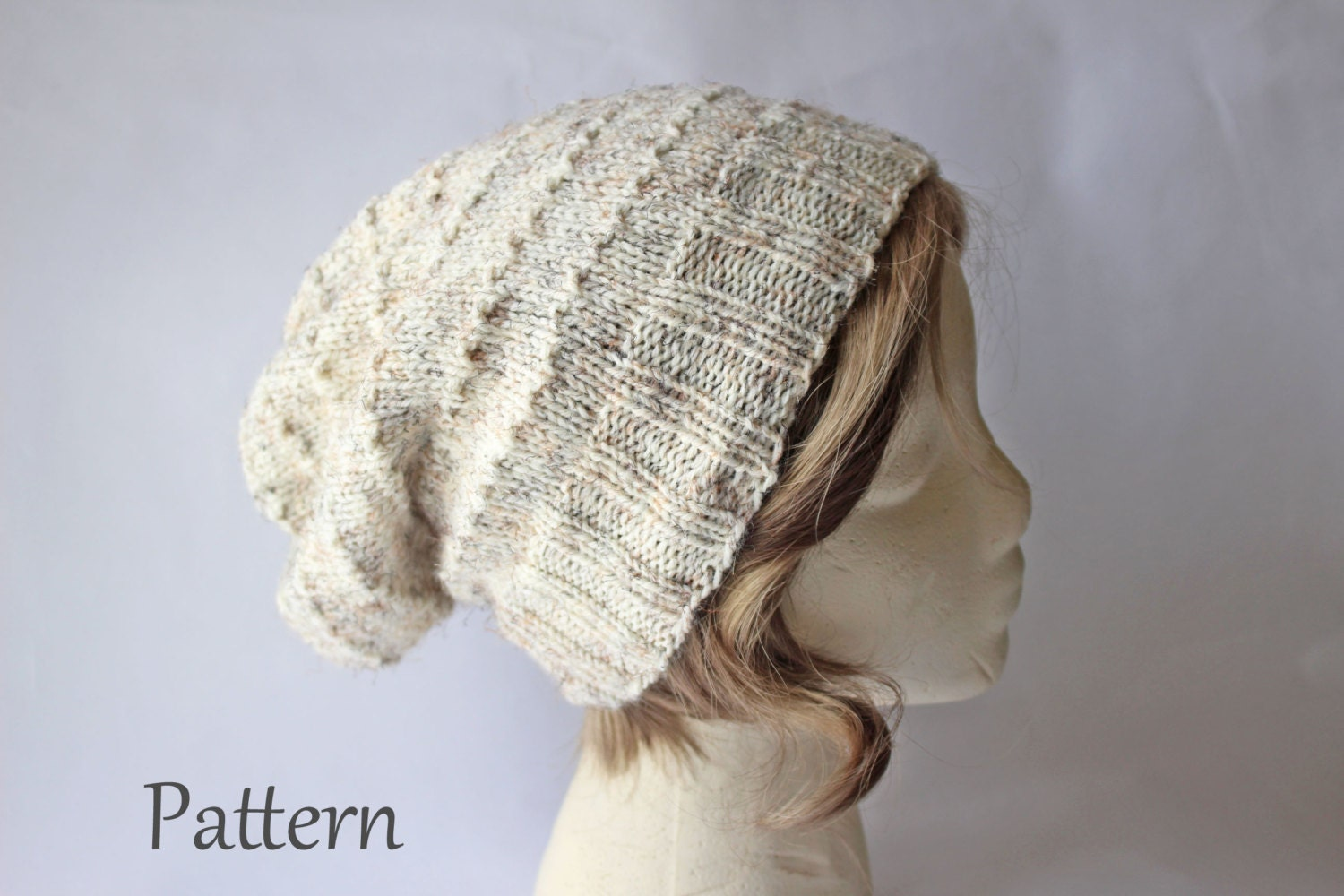 Free Knitting Patterns For Dogs Sweater : Knitting Pattern Urban Slouch Knit Beanie Hat Pattern