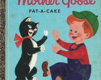 Baby's Mother Goose Little Golden Book Vintage Children's Book, C1972