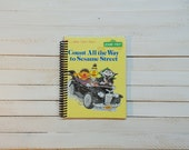 Little Golden Book/ Recycled Journal/ Spiral journal/ blank notebook/  Count all the way