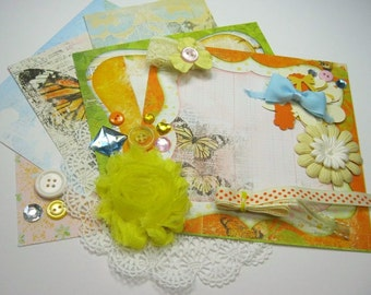 Bo Bunny Country Garden Inspiration Kit, Embellishment Kit for Scrapbooking Cards Mini Albums Tags Altered Art and Papercrafts 1