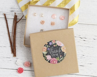 Chalkboard Thank You stickers, Water Resistant Matte Lamination Finish, Flower Wreath Stickers, Round Cut Sticker Etsy Sellers Wedding Party