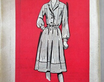 Mail Order 4819 Women's 60s Shirtwaist Two Piece Dress Sewing Pattern Size 12 Bust 34