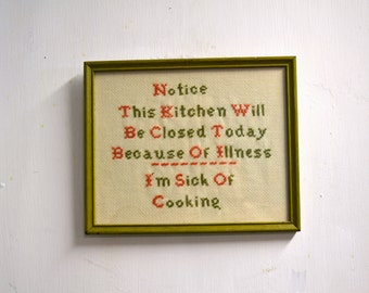 1970s Kitchen Cross Stitch