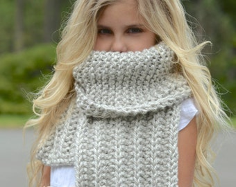Knitting PATTERN-The Siltstone Scarf Set (Small, Medium, Large sizes)