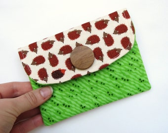 Hedgehog Pouch, Hedgehog Wallet, Pouch, Wallet, Coin Wallet, Coupon Wallet