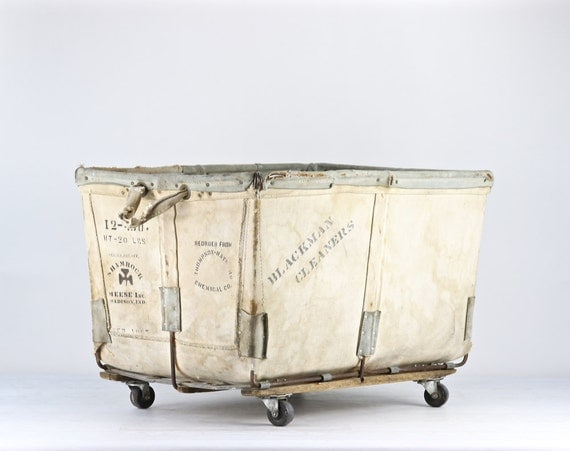 Canvas Laundry Cart Vintage Canvas Laundry Cart Cart On
