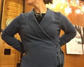 Kimono Polar Fleece Wrap Shirt Wrap Sweater Wrap Jacket