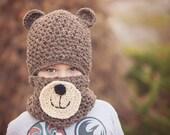 Teddy Bear Hat and Cowl Pattern, crochet hat patterns, hat crochet pattern, cowl crochet patterns, cute kid patterns, crochet patterns