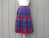 Vintage Plaid Rainbow Skirt