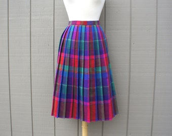 Vintage Plaid Rainbow Skirt
