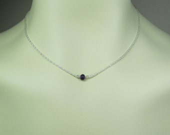 Bridesmaid Necklace - Bridesmaid Jewelry - Small Gemstone Birthstone Necklace - Bridesmaid Gift - Layered Necklace Dainty Layering Jewelry