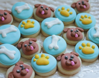 5 dozen Puppy Party Themed Cookie Nibbles