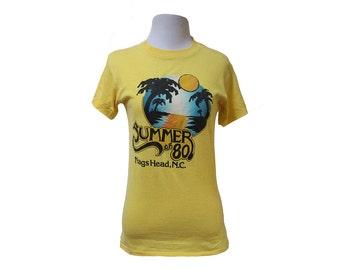 Vintage 1980 Nags Head NC t-shirt Size XS