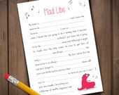 Funny Mad Libs Game | Baby Shower games | DIY baby shower | Gender Neutral | INSTANT DOWNLOAD