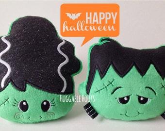 Frankenstein & His Bride - Halloween - Frankenstein Plush - Stuffed Frankenstein - Halloween Stuffed Toys - Halloween Toys - Stuffed Animal