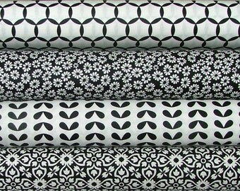 Fat Quarter Bundle of Shades of Black in Black by Me & My Sister Designs for Moda LAST ONE