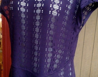 CUSTOM Purple Lace Tunic, Layer over and Layer under, Tunic Dress created on a custom basis for you
